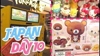 SHOPPING AT HANEDA AIRPORT! LOTS OF GACHA AND VENDING MACHINES! | Japan Vlog Day 10
