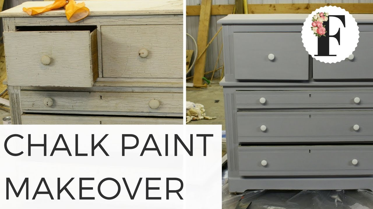 Chalk Paint Dresser Makeover From Gross To Gorgeous Salvaged