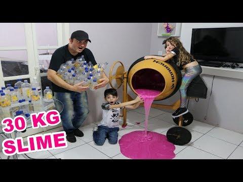 FIZ 30KG DE SLIME CLEAR NA SUPER MÁQUINA!