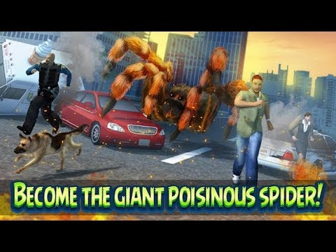 "🕷🕸Giant Spider City Attack Simulator 3D-Симулятор ""Паук Муравей ""-By Virtual Animals World-Android"