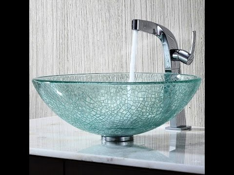 25 Glass Sink Design Ideas For Bathroom