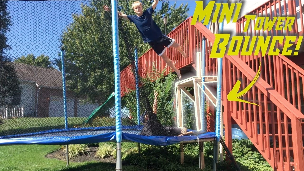 Ultimate Backyard Trampoline Set Up |Ep. 1|