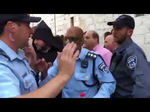 07.04.18 - Israeli Police Arested Armenian In Armenian Quarter