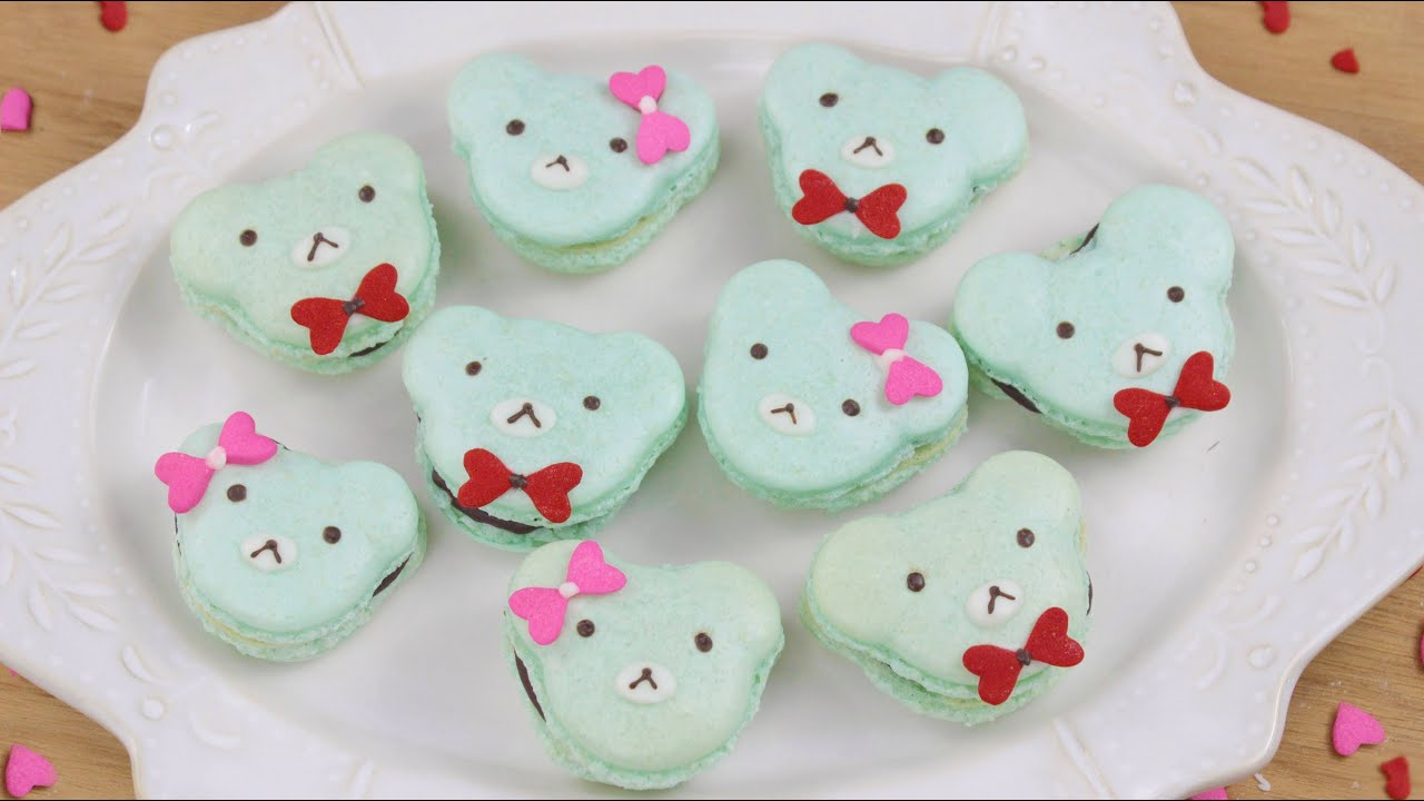 How To Make Valentineu0027s Day Bear Macarons!   YouTube