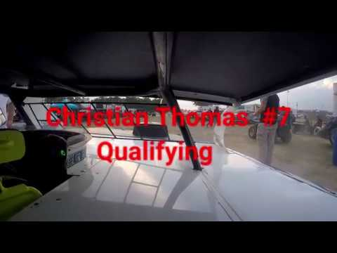 In-Car Cam of #7 Christian Thomas @ Fayetteville Motorspeedway 5/12/2018