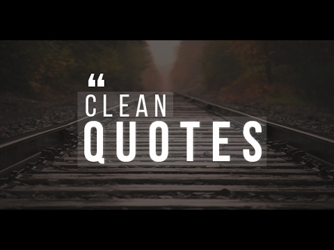 30 Clean Quotes Pack! | After Effects template