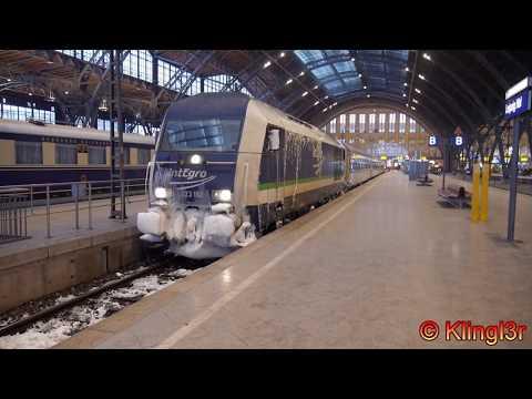 Züge in Leipzig - Hauptbahnhof - MDR - Messe - Nord - Markt