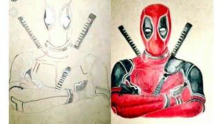 how to paint deadpool - deadpool painting