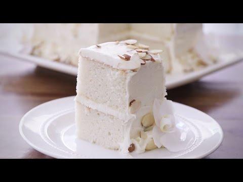 How To Make White Almond Wedding Cake   Dessert Recipes   Allrecipes.com