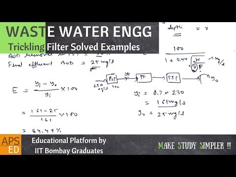 Trickling Filter Example Problems | Waste Water Engineering