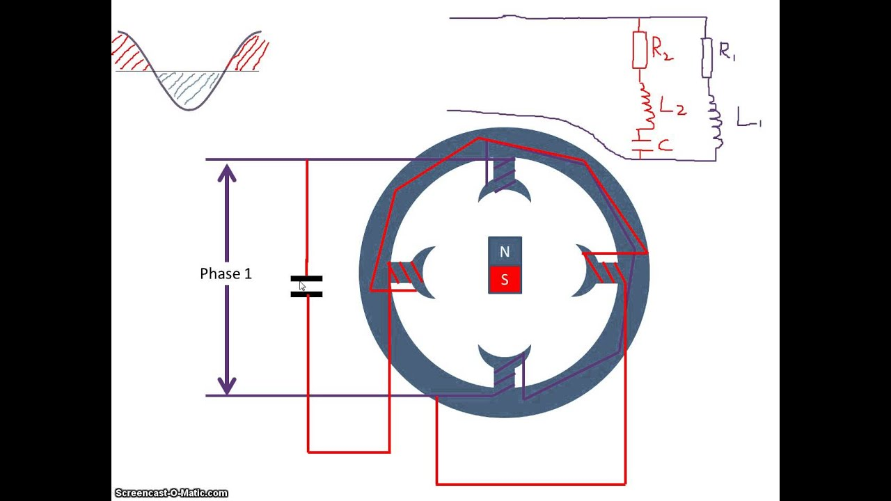Single Phase Electricity : Single phase motor with capacitor wiring diagram