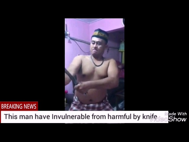Invulnerable from knife amazing talent, without editing