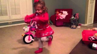 Hallie does the Hot Dog Dance