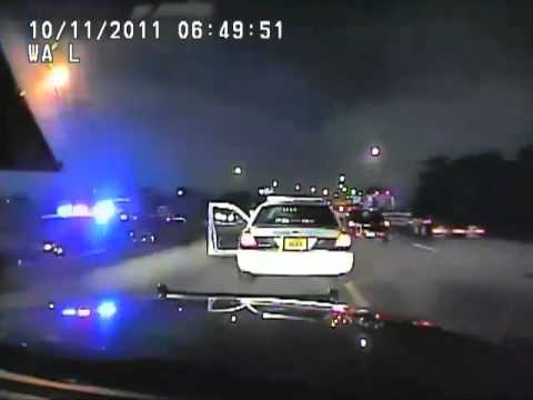 Florida Trooper Pulling Over Speeding Miami Officer At Gunpoint