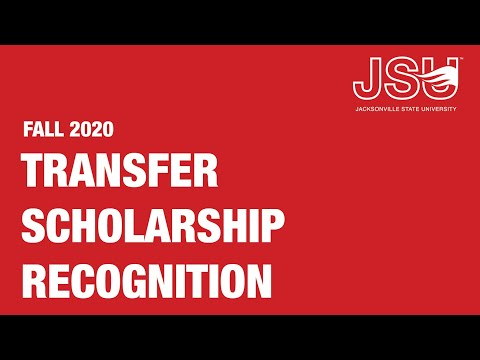 Fall 2020 Transfer Scholarship Recognition