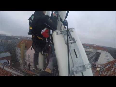 Rope Access Telecom antenne montering