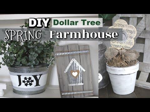 Dollar Tree Farmhouse Spring Decor DIY | DIY Farmhouse Decor Spring | Krafts by Katelyn