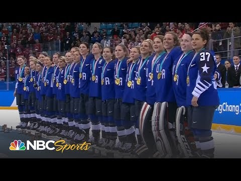 Team USA receives women's hockey gold medals