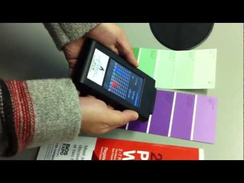 Measuring Color surfaces with the spectrometer ASP-MK350