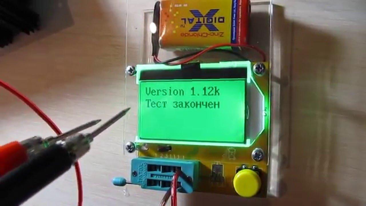 Проверка деталей на плате без выпаивания с Тестером транзисторов ESR LCR T4 T3 прошивка 1,12К рус