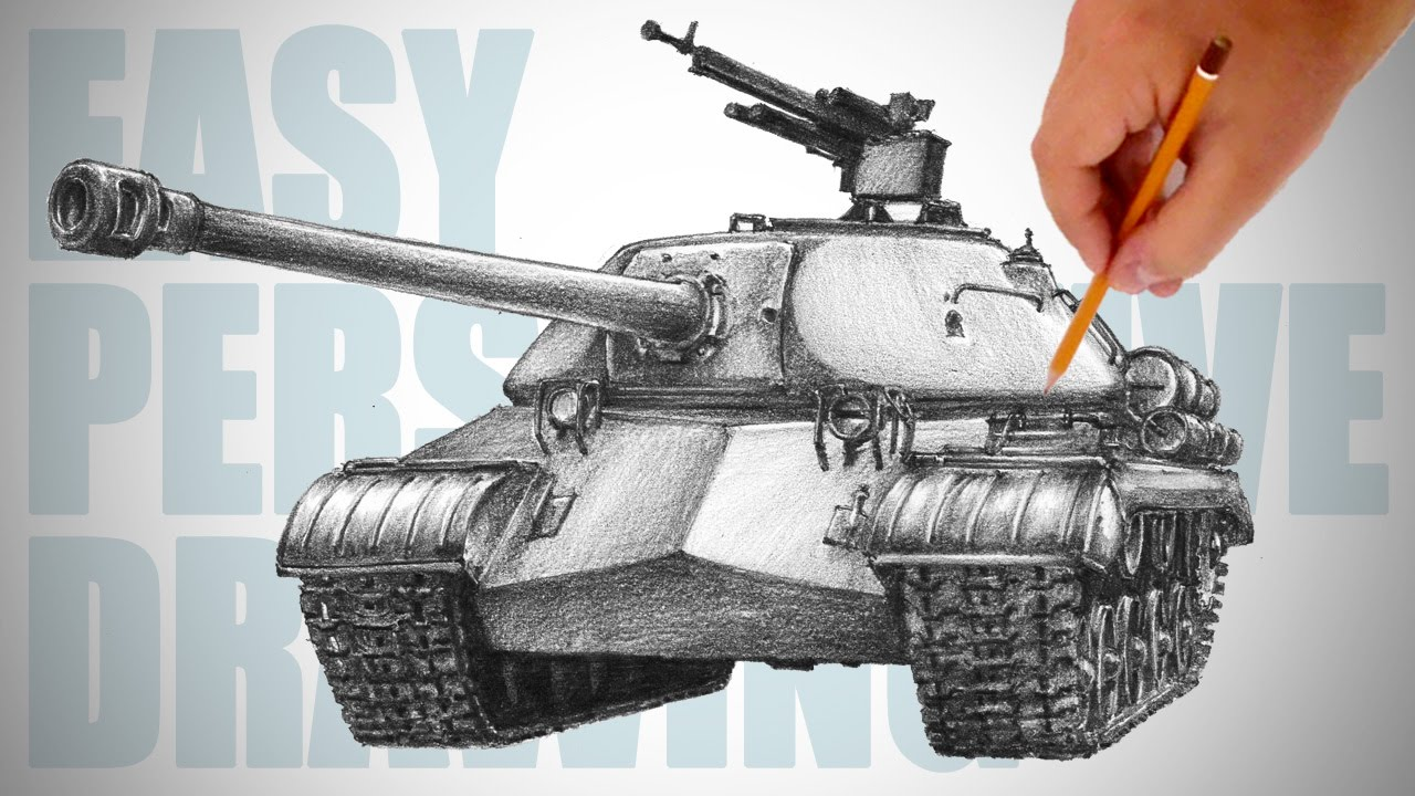 Uncategorized How To Draw Tank how to draw a tank is 3 easy perspective drawing 21 youtube