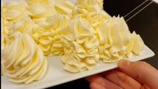 Самый вкусный Крем для торта Qaymoqsiz qattiq krem 100 o xshaydi Hamma tortlar uchun Oson mazali