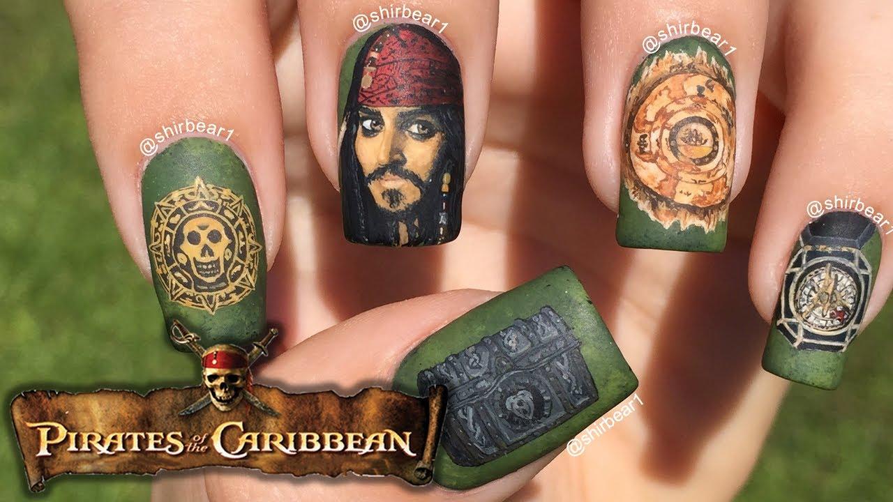 Pirates Of The Caribbean Nail Art Youtube