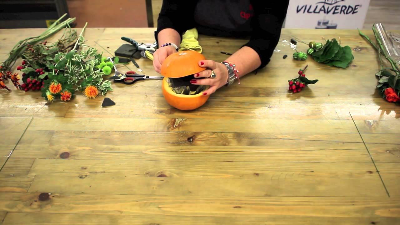 video tutorial come decorare una zucca vera per