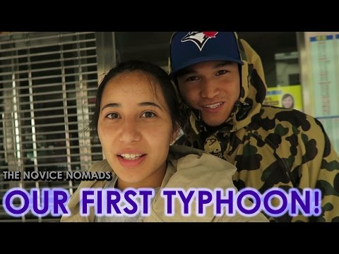 Our First Typhoon | TAIWAN VLOG