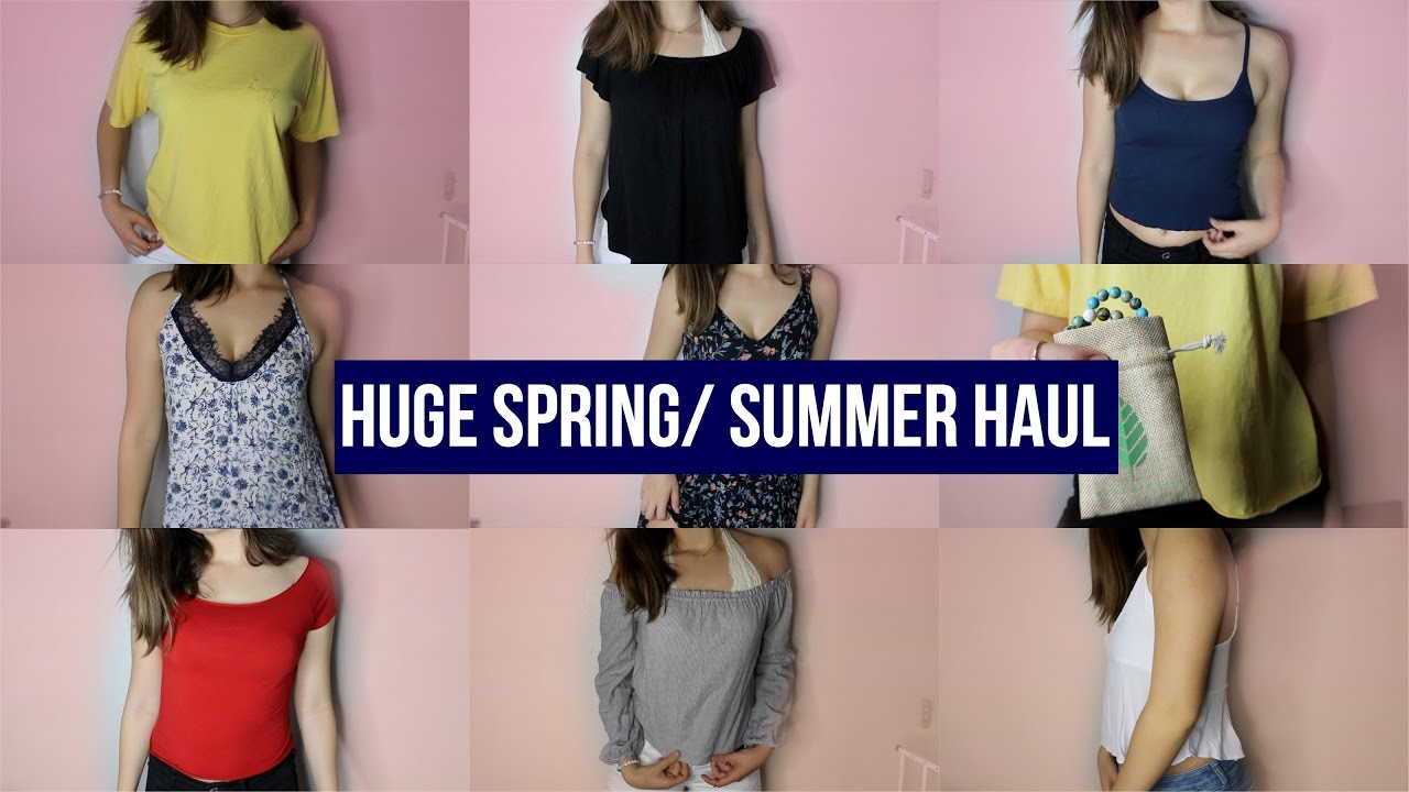 8066e47b6d TRY-ON SPRING + SUMMER CLOTHING HAUL 2017