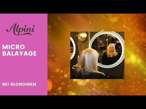 Micro Balayage Strähnen Im Blonden Haar Ansatz Färben ü50 Youtube