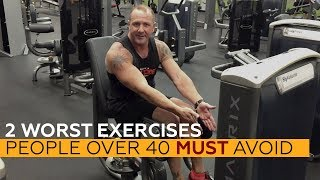 2 WORST Exercises People OVER 40 Must AVOID (Yes, even though they're popular...)