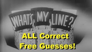 What's My Line? - ALL Correct Free Guesses! [CLIPS VIDEO]