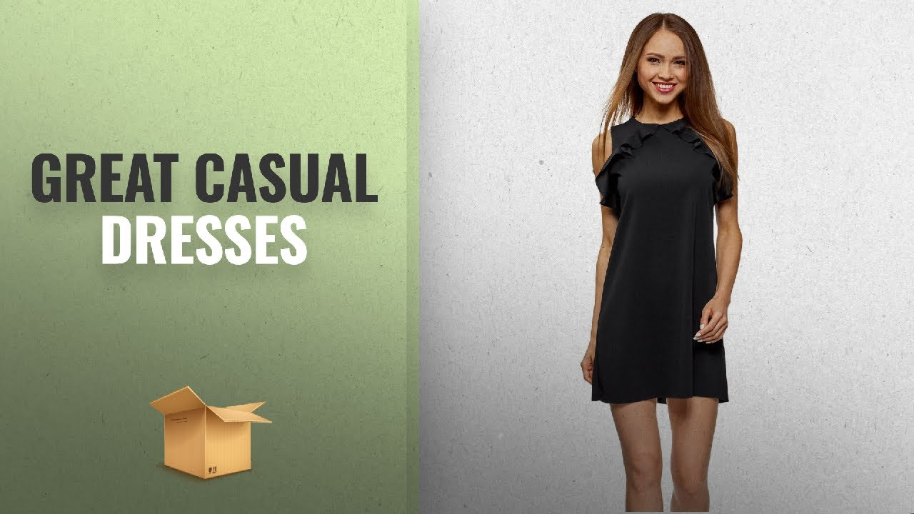 [VIDEO] - Women's Off-to-College Essentials: Casual Dresses: oodji Ultra Women's Straight Dress with 2