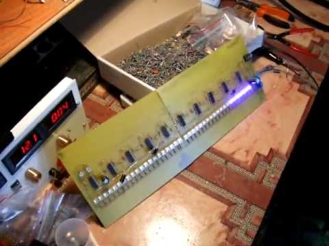 vu-metru LM339 40 blue LEDs BETA