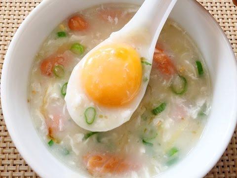 How to Make Quick & Easy Egg Rice Porridge Recipe