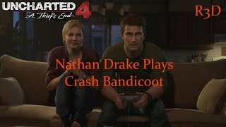"""""""Drake Plays Crash Bandicoot Video Game"""" Easter Egg - Uncharted 4: A Thief's End {Full HD, 60 FPS}"""