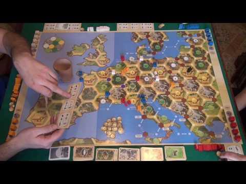 Колонизаторы. Европа 1/2 часть - играем в настольную игру