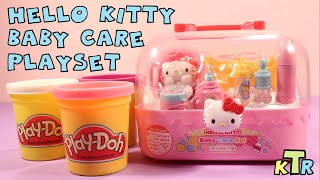 ★Hello Kitty Baby Care Playset★  With Play-Doh  - Unboxing & Review - KTR Videos