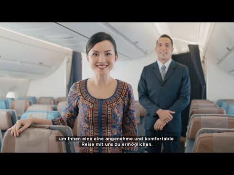 Verstärkte Hygienestandards an Bord   Singapore Airlines