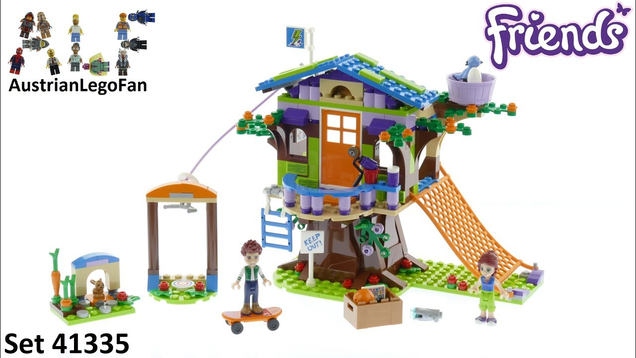 Lego Friends 41335 Mias Tree House Lego Speed Build Review Youtube