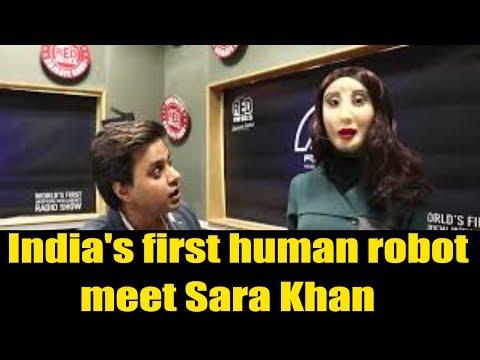 India's first human robot   Rashmi   Red FM   Meet With Sara    Arrive Entertainment