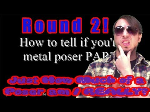 CommentaryInShades: Just How Much of a Poser am I REALLY?  Round 2!