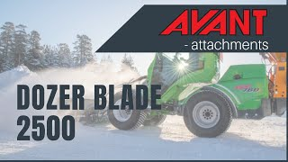 Dozer Blade 2500 2, Avant 300-700 Series attachment Thumbnail