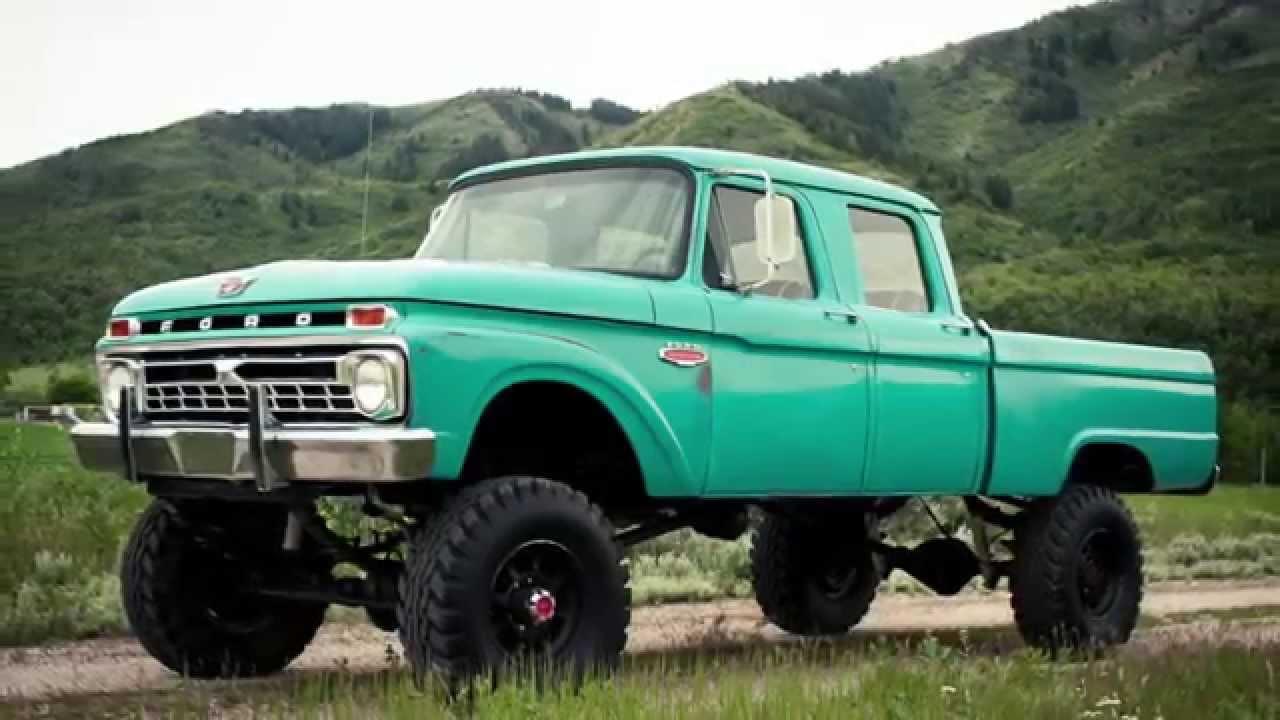 1966 Ford F250 Crew Cab Original Barnfind Survivor Body Zero Rust Patina Truck F250