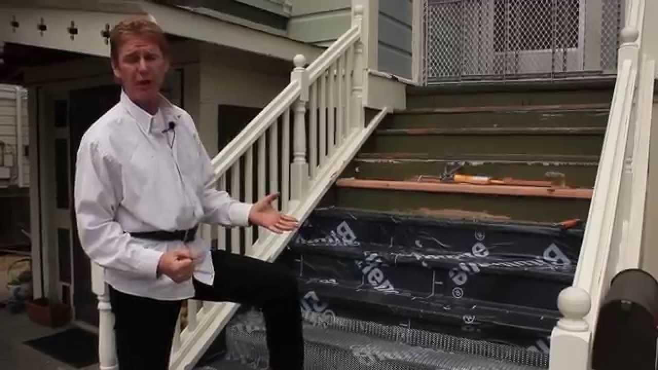 teaching how to waterproof front or back stairs youtube