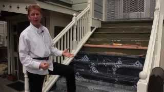 Waterproofing exterior stairs, can you stucco stairs, plaster my steps