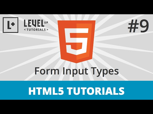 HTML5 Tutorials #9 - Form Input Types