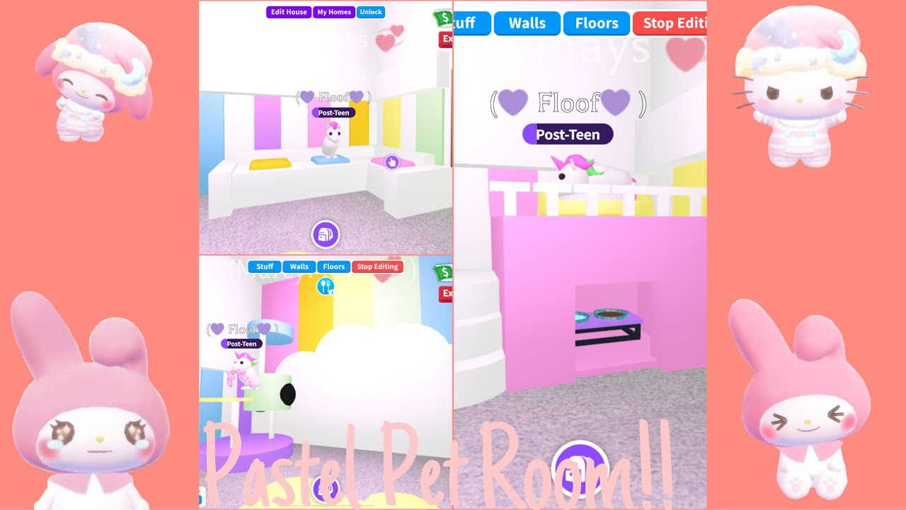 Cute Roblox Logo Pastel Super Cute Pastel Pet Room Adopt Me Builds Roblox Youtube