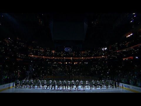 Dallas Stars and Vegas Golden Knights unite for tributes to  Dave Strader and Vegas tragedy victims
